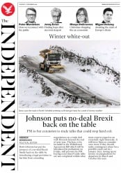 The Independent (UK) Newspaper Front Page for 17 December 2019