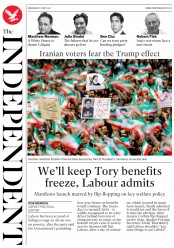 The Independent (UK) Newspaper Front Page for 17 May 2017