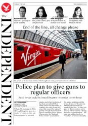 The Independent (UK) Newspaper Front Page for 17 May 2018