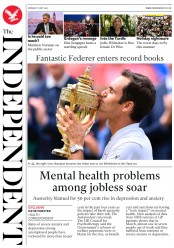 The Independent (UK) Newspaper Front Page for 17 July 2017
