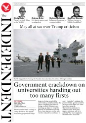 The Independent (UK) Newspaper Front Page for 17 August 2017