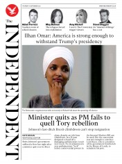 The Independent front page for 17 September 2020