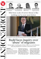 The Independent (UK) Newspaper Front Page for 18 October 2017
