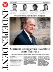 The Independent front page for 18 February 2021