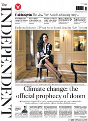 The Independent (UK) Newspaper Front Page for 18 March 2014