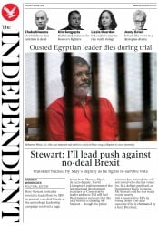 The Independent (UK) Newspaper Front Page for 18 June 2019
