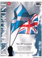 The Independent (UK) Newspaper Front Page for 18 September 2014