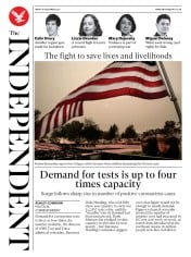 The Independent front page for 18 September 2020