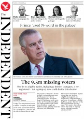The Independent (UK) Newspaper Front Page for 19 November 2019