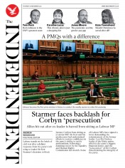 The Independent front page for 19 November 2020