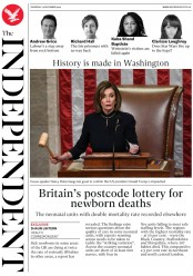 The Independent (UK) Newspaper Front Page for 19 December 2019