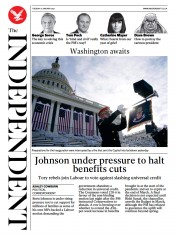 The Independent front page for 19 January 2021