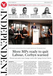The Independent () Newspaper Front Page for 19 February 2019