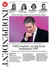 The Independent front page for 19 February 2021
