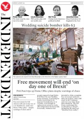 The Independent (UK) Newspaper Front Page for 19 August 2019