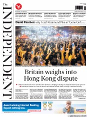 The Independent (UK) Newspaper Front Page for 1 October 2014