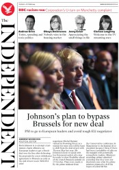 The Independent (UK) Newspaper Front Page for 1 October 2019