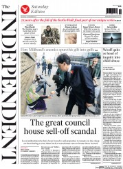 The Independent (UK) Newspaper Front Page for 1 November 2014