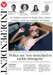 The Independent () Newspaper Front Page for 1 November 2018