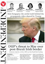 The Independent (UK) Newspaper Front Page for 1 December 2017