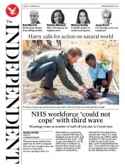 The Independent front page for 1 December 2020