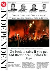 The Independent (UK) Newspaper Front Page for 1 February 2017