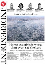 The Independent (UK) Newspaper Front Page for 1 February 2019