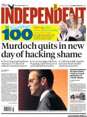 The Independent (UK) Newspaper Front Page for 1 March 2012