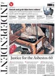 The Independent (UK) Newspaper Front Page for 1 March 2016
