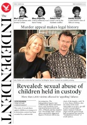 The Independent () Newspaper Front Page for 1 March 2019