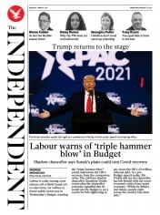 The Independent (UK) Newspaper Front Page for 1 March 2021