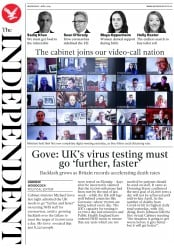 The Independent (UK) Newspaper Front Page for 1 April 2020