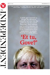 The Independent () Newspaper Front Page for 1 July 2016