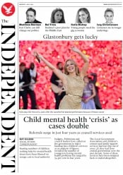 The Independent () Newspaper Front Page for 1 July 2019