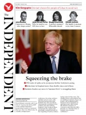 The Independent (UK) Newspaper Front Page for 1 August 2020
