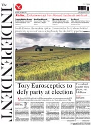 The Independent (UK) Newspaper Front Page for 1 September 2014