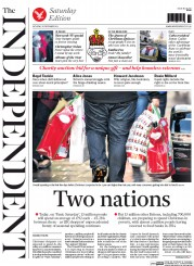 The Independent (UK) Newspaper Front Page for 20 December 2014