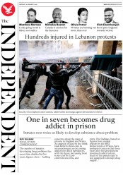The Independent (UK) Newspaper Front Page for 20 January 2020
