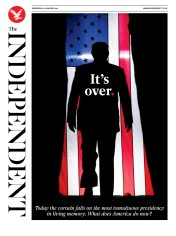 The Independent front page for 20 January 2021