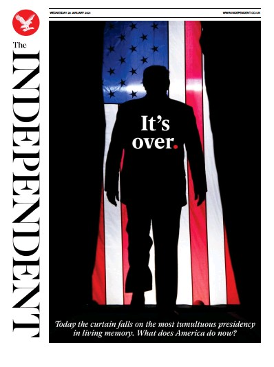The Independent Newspaper Front Page (UK) for 20 January 2021