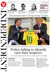 The Independent (UK) Newspaper Front Page for 20 March 2019