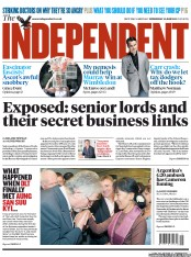 The Independent Newspaper Front Page (UK) for 20 June 2012