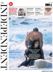 The Independent (UK) Newspaper Front Page for 21 April 2015