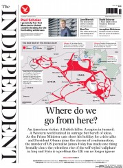 The Independent (UK) Newspaper Front Page for 21 August 2014