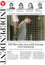 The Independent (UK) Newspaper Front Page for 21 August 2019