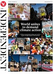 The Independent (UK) Newspaper Front Page for 21 September 2019