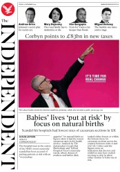 The Independent (UK) Newspaper Front Page for 22 November 2019
