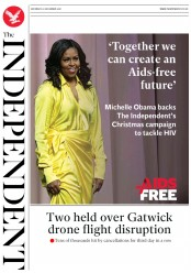 The Independent (UK) Newspaper Front Page for 22 December 2018
