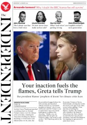 The Independent (UK) Newspaper Front Page for 22 January 2020