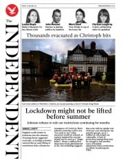 The Independent front page for 22 January 2021